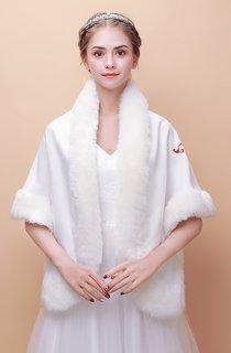 Bridal Wedding Shawl New Winter Warm Korean Coat Embroidery Printing Cape