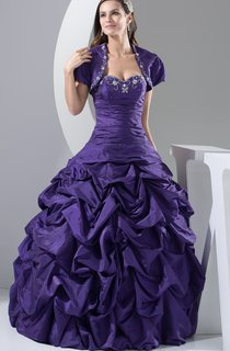 Sweetheart Pick-Up Ball Gown with Embroideries and Bolero