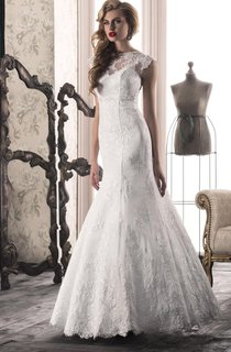 Mermaid Lace Weddig Dress With Corset Back