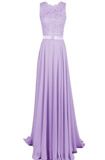 Scalloped Beaded Lace Appliqued A-line Gown With Band