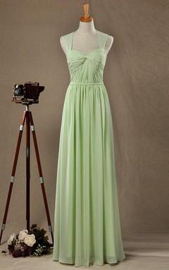 Keyhole Sage Bridesmaid Dress