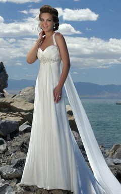 Greek Bridal Dresses Grecian Flowy Chiffon Wedding Gowns June