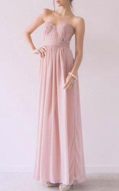 Maxi Sweetheart Chiffon Dress