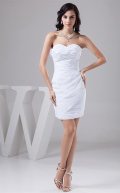 Sweetheart Chiffon Short Gown with Ruching