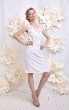Wedding Silk And Lace Short Weddig Dress