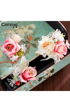 New Korean Bride Headdress Head Flower Hairpin Lawn Wedding Brigade Wedding Dress Accessories