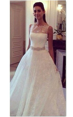 2016 Hot Style Lace Elegant Princess Wedding Dress With Zipper Back