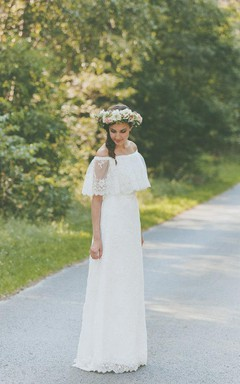 Lace Vintage Boho Light Lace Wedding Dress