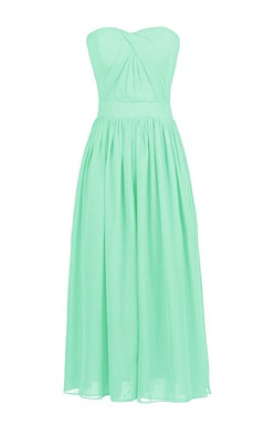 Elegant Sweetheart Drapped Chiffon A-line Gown With Band