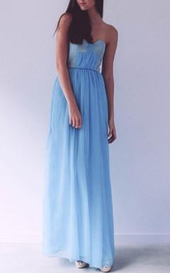 SweetHeat Blue Maxi Chiffon Dress