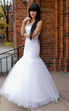 Elegant Sweetheart Lace and Tulle Mermaid Wedding Dress