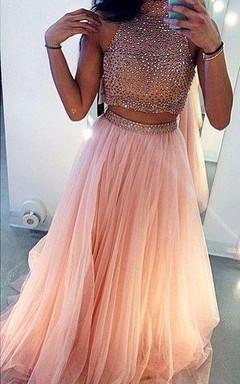 F prom dresses rose
