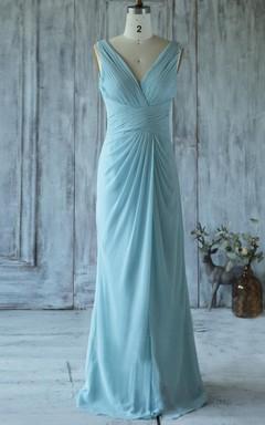 2016 Light Blue Bridesmaid Dress
