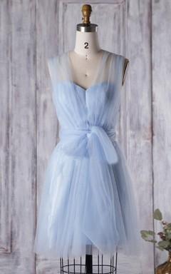 Baby Blue Convertible Bridesmaid Dress