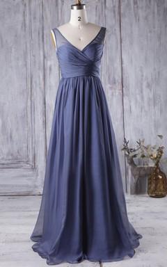 2016 Illusion Long Bridesmaid Dress