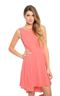 Fabulous Sleeveless Asymmetrical Dress With Bow