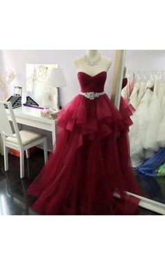 Gorgeous Sleeveless Ruffle Long Prom Dress
