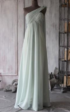 Empire Maxi Empire Backless Chiffon Dress
