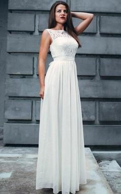 Lace Maxi Chiffon Gentle Bridesmaid White Evening Dress