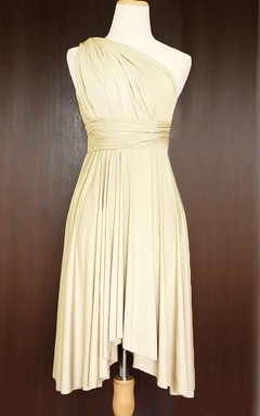 Champagne Bridesmaid Convertible Wrap Dress