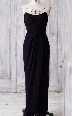Floor-length Backless Chiffon&Tulle Dress With Beading