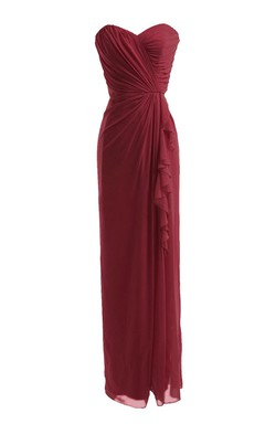Strapless Long Dress With Draping and Basque Waist