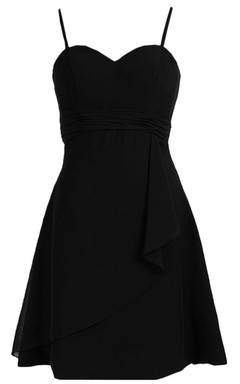 Sleeveless A-line Mini Dress With Spaghetti Straps
