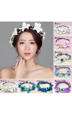 Flower Fairy Korean Flower Headdress Bride Wreath Heart Of The Female Flower Hair Wedding Holiday Jewelry
