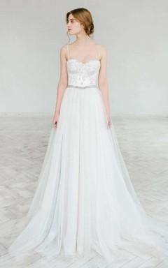 Sweetheart A-Line Appliques Lace Wedding Dress