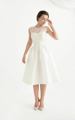 Sweetheart Sleeveless Sleeve Taffeta Dress With Zipper