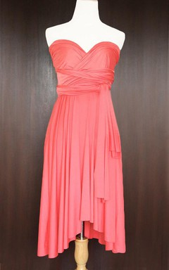 Coral Convertible Wrap Dress