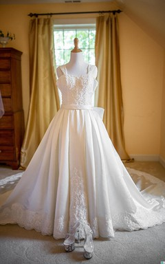Fairytale Wedding Lace And Satin Ballgown Ashley Style Dress
