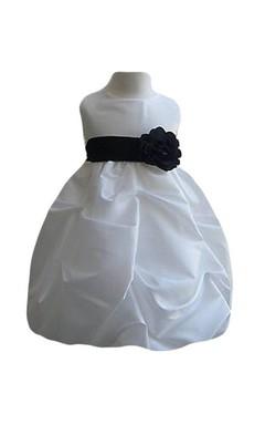 Sleeveless A-line Ruffled Dress With Belt