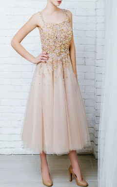 Ball Gown Tulle&Lace Dress With Beading&Embroideries