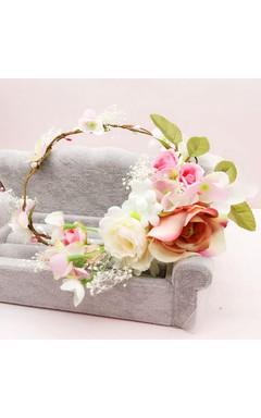 Spring Department Of Immortal Flowers Full Of Stars Hay Wreaths Headdress Hair Ornaments Hoop Seaside Holiday Accessories