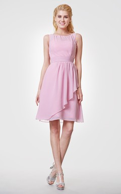 Country Style A-line Chiffon Short Bridesmaid Dress
