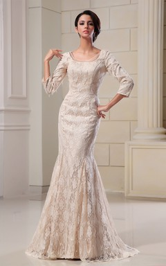 Sassy Square-Neck Style Dress With Lace Appliques