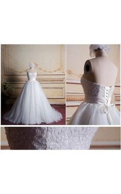Sweetheart Ball Gown Long Tulle Dress With Corset Back