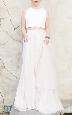 Wedding Separate Beverly Crop High Neck Crop Top Crop Top Wedding Minimalist Wedding Modern Wedding Dress