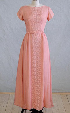 1960S Peach Dress with Lace