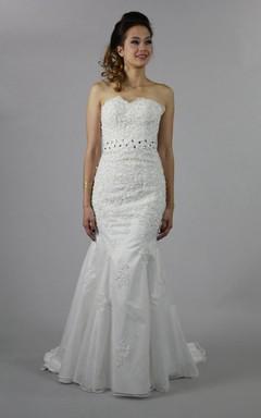 Elegant Mermaid Bridal Gown With Crystal Detailing