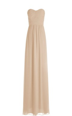 Strapless Empire Long Chiffon Dress With Ruching