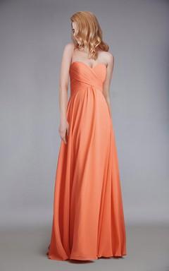 Sweetheart Empire Chiffon Bridesmaid Dress