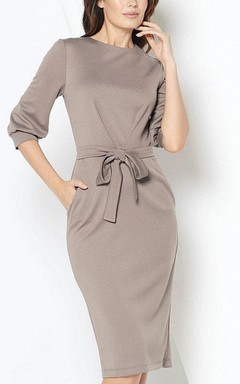 Puff Sleeve Pencil Dress