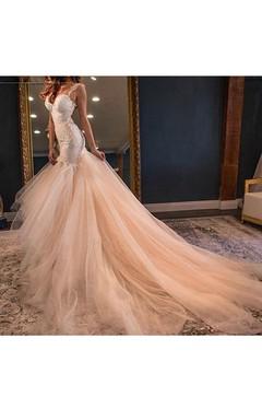 Sweetheart Sleeveless Backless Tulle Sequins Dress