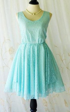 Backless Lace Dress With Bow&Low-V Back