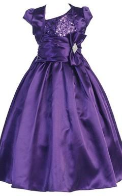 Sleeveless Taffeta Dress With Matching Jacket