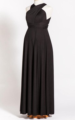 Black Maternity Maxi Convertible Infinity Dress