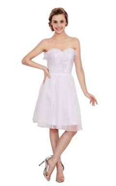 Amazing Sweetheart Knee-length Dress With Ruffles