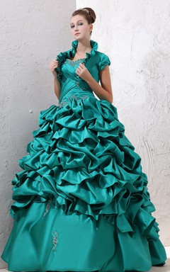 Captivating Strapless Ball Gown With Ruffles And Crisscross Ruching